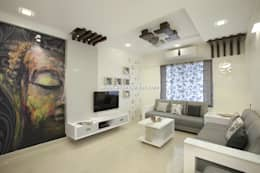 living area : modern Living room by shubhchintan