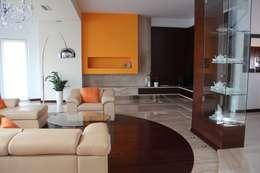 modern Living room by Fabryka Wnętrz