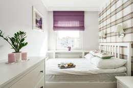 غرفة نوم تنفيذ Anna Serafin Architektura Wnętrz