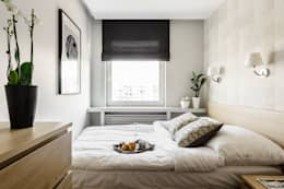 MIESZKANIE WAKACYJNE STYL NOWOJORSKI – AVIATOR – GDAŃSK: styl , w kategorii Sypialnia zaprojektowany przez Anna Serafin Architektura Wnętrz