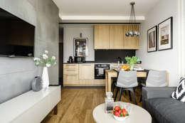 Offene Wohnküche. Moderne Wohnzimmer Von Anna Serafin Architektura Wnętrz