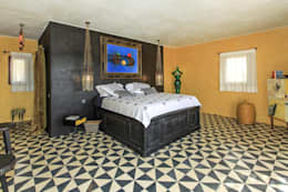mediterranean Bedroom by Crafted Tiles