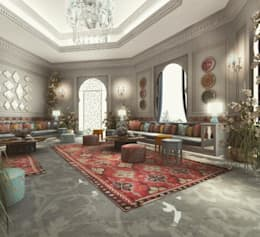 Interior Design & Architecture  by IONS DESIGN Dubai,UAE: mediterranean Living room by IONS DESIGN