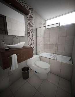 Proyecto en San Andrés, Trujillo: Baños de estilo moderno por Arquitectura y diseño 3d- J.C.G