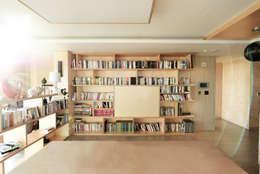 Projekty,  Salon zaprojektowane przez 진플랜