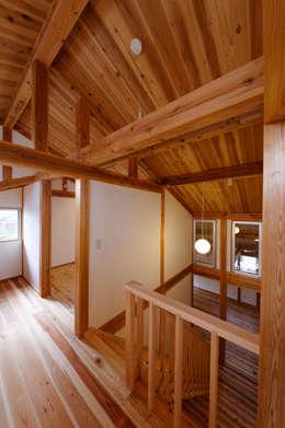 Koridor dan lorong by 高野三上アーキテクツ一級建築設計事務所  TM Architects