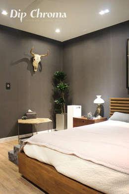 광주 복층 빌라: dip chroma의  침실