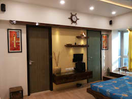 DB WOODS , GOREGAON: modern Bedroom by J SQUARE - Architectural Studio