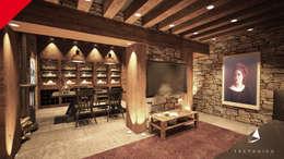 eclectic Wine cellar by Tectónico