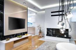 Dom w Mechelinkach: styl , w kategorii Salon zaprojektowany przez Arte Dizain. Agnieszka Hajdas-Obajtek