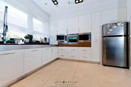Salon z kuchnią: styl , w kategorii Kuchnia zaprojektowany przez Arte Dizain. Agnieszka Hajdas-Obajtek