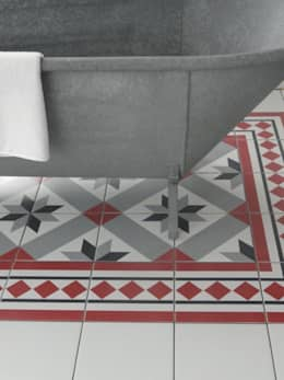 NEOCIM Décor Optique Framboise: Casa de banho  por Kerion Ceramics