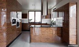Projekt wnętrz domu w Lędzinach : styl , w kategorii Kuchnia zaprojektowany przez Mono architektura wnętrz Katowice
