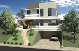 Casas de estilo moderno por Hamilton Turola Arquitetura e Design