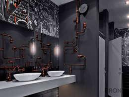 Baños de estilo industrial por Bronx