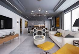eclectic Living room by KAPRANDESIGN