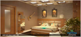 غرفة نوم تنفيذ Monnaie Architects & Interiors