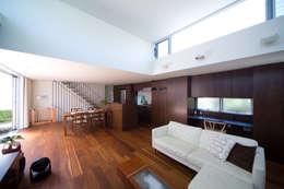 阿佐ヶ谷の家: 設計事務所アーキプレイスが手掛けたリビングです。
