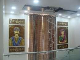 Independent Bunglow - Secunderabad , Hyderabad.:  Corridor & hallway by Nabh Design & Associates
