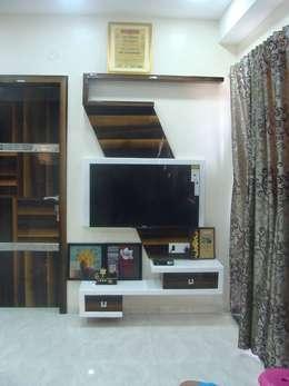 Independent Bunglow - Secunderabad , Hyderabad.: modern Living room by Nabh Design & Associates