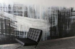 ściana w biurze: styl , w kategorii Pomieszczenia biurowe i magazynowe zaprojektowany przez Artystyczne Malowanie Ścian