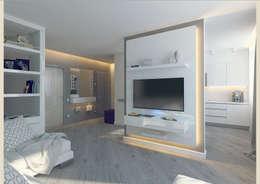 Salas / recibidores de estilo minimalista por Tutto design