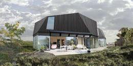 duurzame houten huis: moderne Huizen door hans moor architect