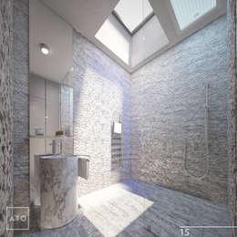 Дом на новой риге: Ванные комнаты в . Автор – ATO Studio