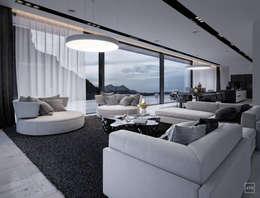 Белый дом: Гостиная в . Автор – ATO Studio