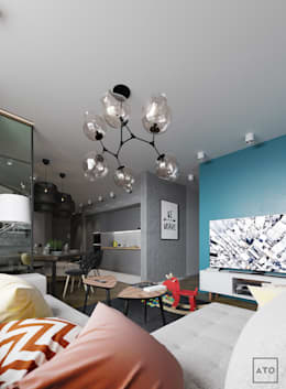 Квартира в балашихе: Гостиная в . Автор – ATO Studio