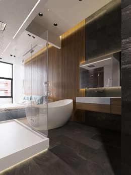 ЖК Сколков Парк: Ванные комнаты в . Автор – ATO Studio