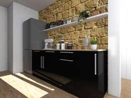 Cocinas de estilo rústico por Sandia Design