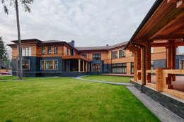 Загородный дом в посёлке Грибово: Дома в . Автор – Архитектурное бюро Бахарев и Партнеры