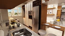 Cuisine de style de style eclectique par Juliana Zanetti Arquitetura e Interiores
