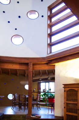 Salas de estilo rústico por ALIWEN arquitectura & construcción sustentable