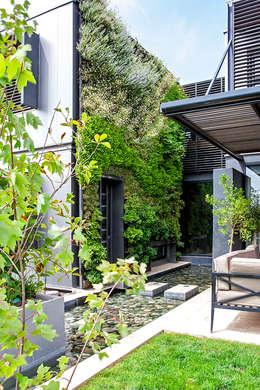 CASA COLINA DEL MIRADOR: Jardines de estilo moderno por VERDE360