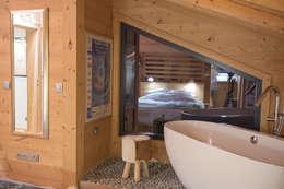 Projekty,  Łazienka zaprojektowane przez Chevallier Architectes