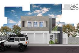 J-Gles: Casas de estilo minimalista por SANT1AGO arquitectura y diseño