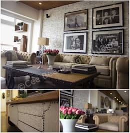 2 BHK Apartment in Kolkata: country Living room by Cee Bee Design Studio