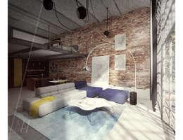 industrial Living room by AAW studio