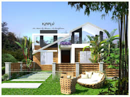 Farm House: modern Houses by KARU AN ARTIST