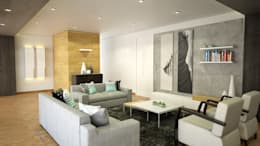 Skandinavische Wohnzimmer Von Kuro Design Studio