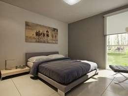 Desarrollo en Lino Limay, Neuquen Capital, Patagonia: Dormitorios de estilo minimalista por Chazarreta-Tohus-Almendra