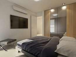 minimalistische Slaapkamer door Chazarreta-Tohus-Almendra