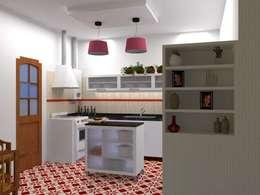 proyecto de cocina: Cocinas de estilo ecléctico por Arq Mauricio Perdomo