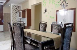 4 BHK in Bengaluru: modern Dining room by Cee Bee Design Studio