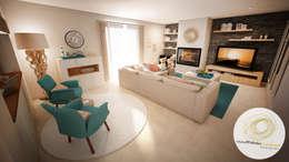Salas de estilo moderno por Andreia Louraço - Designer de Interiores (Contacto: atelier.andreialouraco@gmail.com)