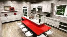 country Kitchen by MV Arquitetura e Design