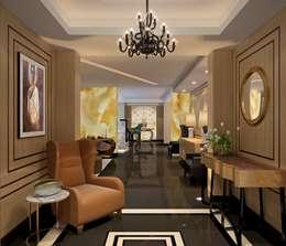 Apartment with a Terrace :  Corridor & hallway by Aijaz Hakim Architect [AHA]