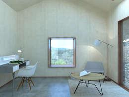 Maison IM: Salon de style de style Minimaliste par Belle Ville Atelier d'Architecture